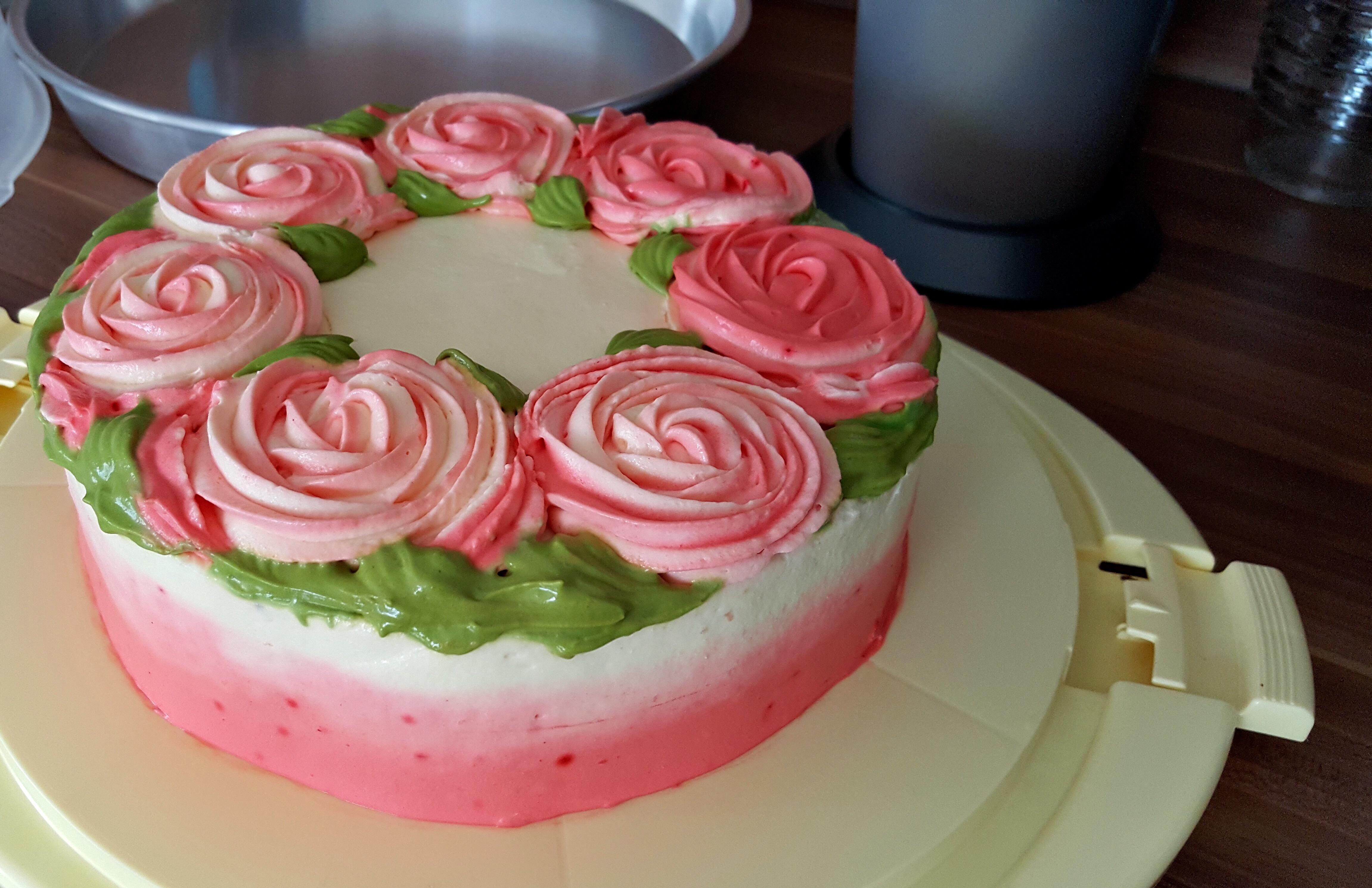 Rosen Torte Kalorienbomben